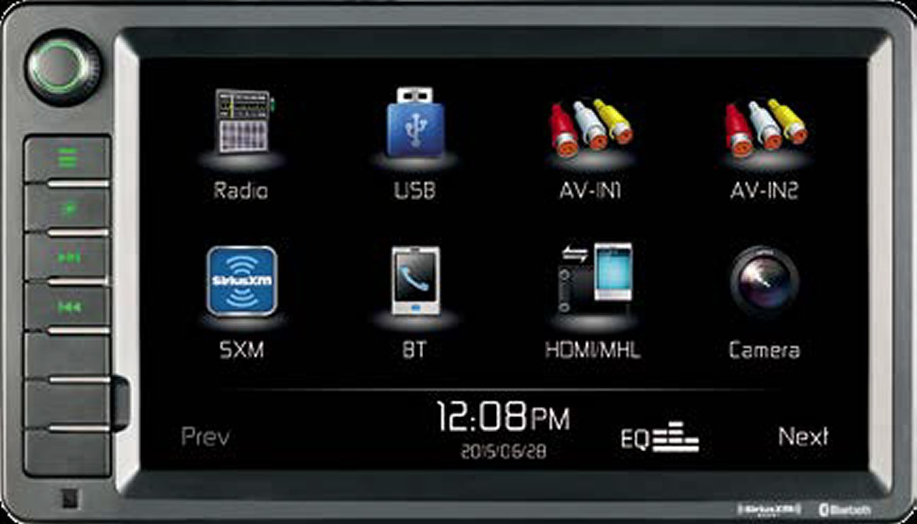 """Jensen XRV10 Double DIN 10.1"""" Touchscreen Bluetooth Multimedia Receiver & Back-Up Observation System System, SiriusXM Ready/Built-in BT Technology/iPhone - iPod/MHL/HDMI/USB/AV in"""