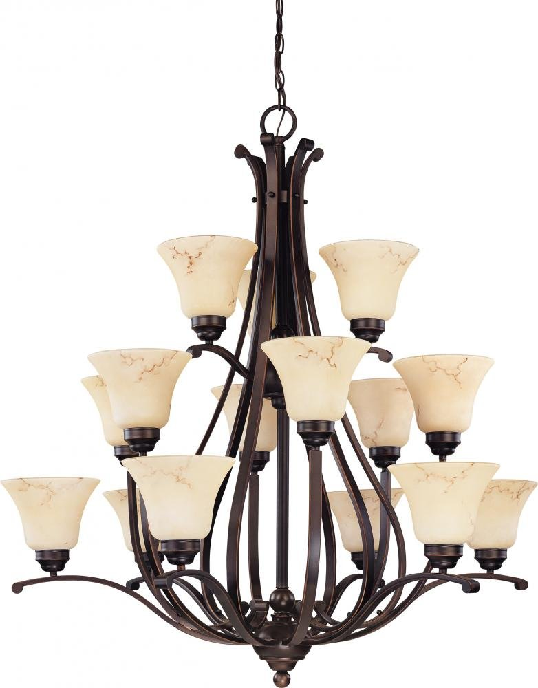 Nuvo Lighting 60 1401 Three Light Chandelier Bronze Dark