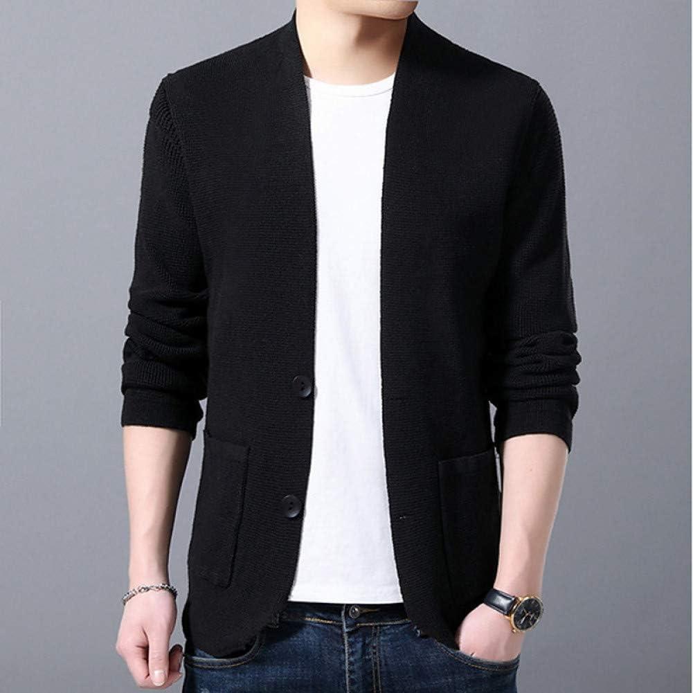 BGBG Maglioni Uomo Maglione Cardigan Manica Lunga Tinta Unita Uomo, Pullover Nero/Rosso/Marrone Black