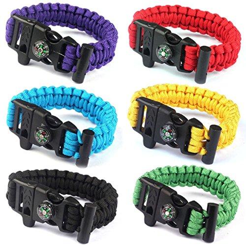 SusenstoneRope-Paracord-Survival-Bracelet-Flint-Fire-Starter-Compass-Whistle