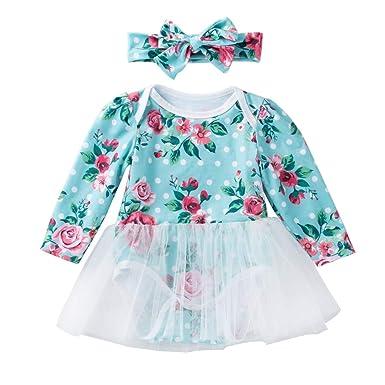 Liyukee Vestido de una Pieza para niña pequeña Vestidos para niños ...