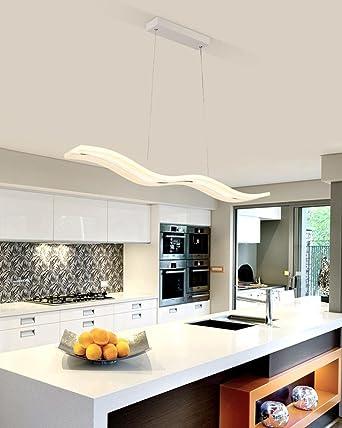 Moderne Hängelampe Welle LED Pendelleuchte Deckenleuchter Licht LED Esstisch  Acryl Hängende Leuchte Pendellampe Kronleuchter