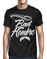 Viva Mexico Men's Bad Hombre Mustache Sombrero Mexican Mariachi Humor T-Shirt