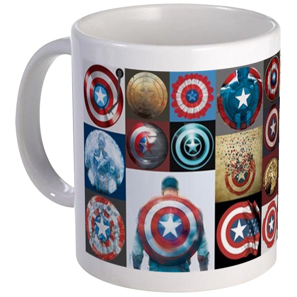 CafePress - Captain America 75Th Anniversary Collec Mug - Unique Coffee Mug, Coffee Cup