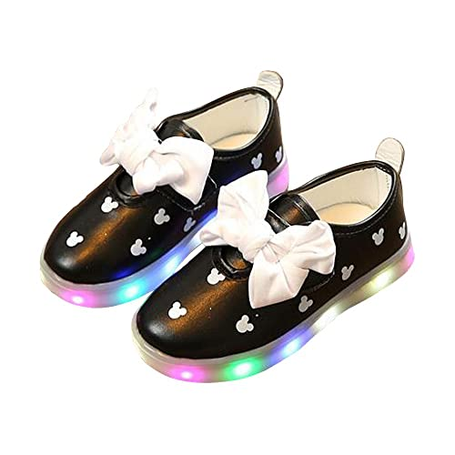 91b8d2bf40a Amazon.com | BININBOX Girls Led Light Up Shoes Bowknot Loafers ...