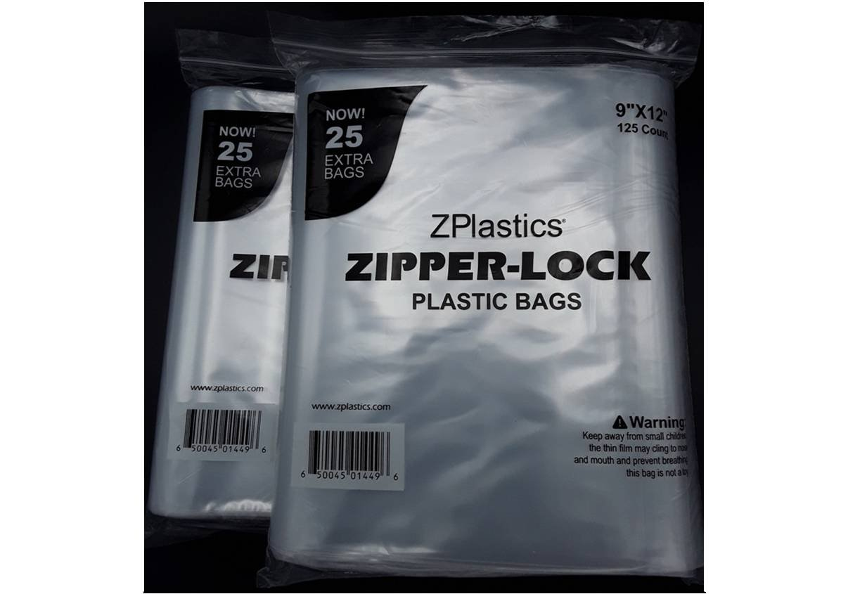 9X12 2mil Clear Resealable Plastic Bag By ZPlastics| Pack of 250 Storage Bags With Zipper: Transparent, Label-Free & Leakproof| Business Use, Any Type Of Content