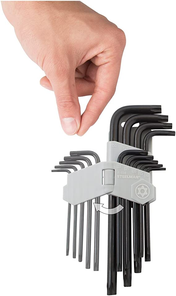 90mm Stiftschlüssel TORX TAMPER TOPTUL T10 extra lang Länge