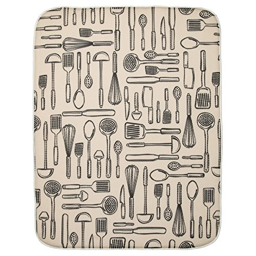 InterDesign 40410 iDry Absorbent Kitchen Countertop Dish Dry