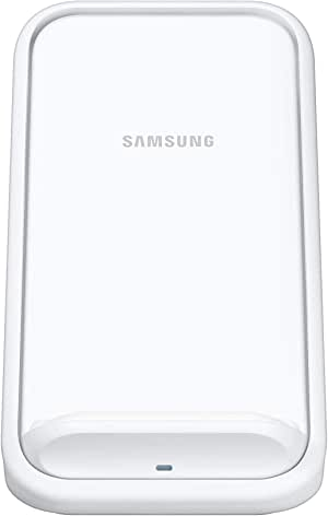 Samsung EP-N5200TWEGAU Standing Wireless Charger, Fast Charge for Samsung and Apple, White