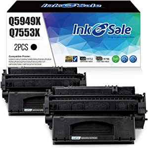 INK E-SALE Compatible Q5949X Q7553X Toner Cartridge Replacement for HP 49X Q5949X 53X Q7553X (Black 2Pack) for use in HP LaserJet P2015dn P2015 P2015d 1320 1320n 3390 3392 M2727nf P2014 P2010 Printer