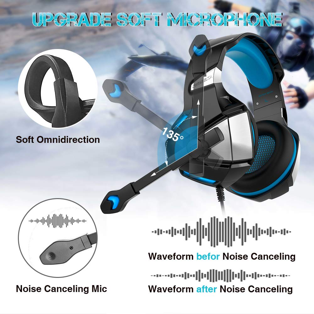 Micolindun Gaming Headset for Xbox One PS4 PC Over Ear Gaming Headphones with Noise Cancelling Mic