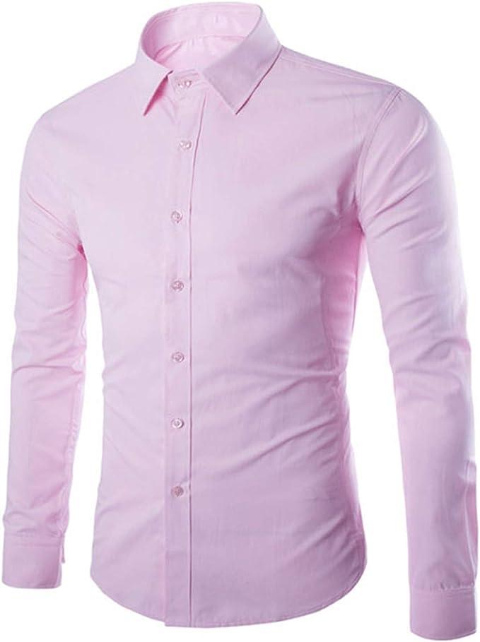 Camisa Blanca de los Hombres Camisa de Manga Larga Chemise Homme diseño de Negocios para Hombre Slim Fit Camisas de Vestir Casual Camisa Social: Amazon.es: Ropa y accesorios