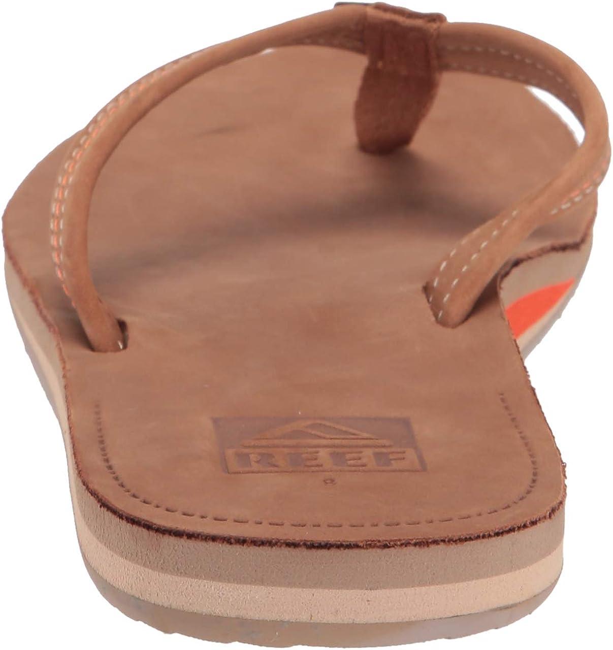 Reef Womens Voyage Lite Leather Flip Flops