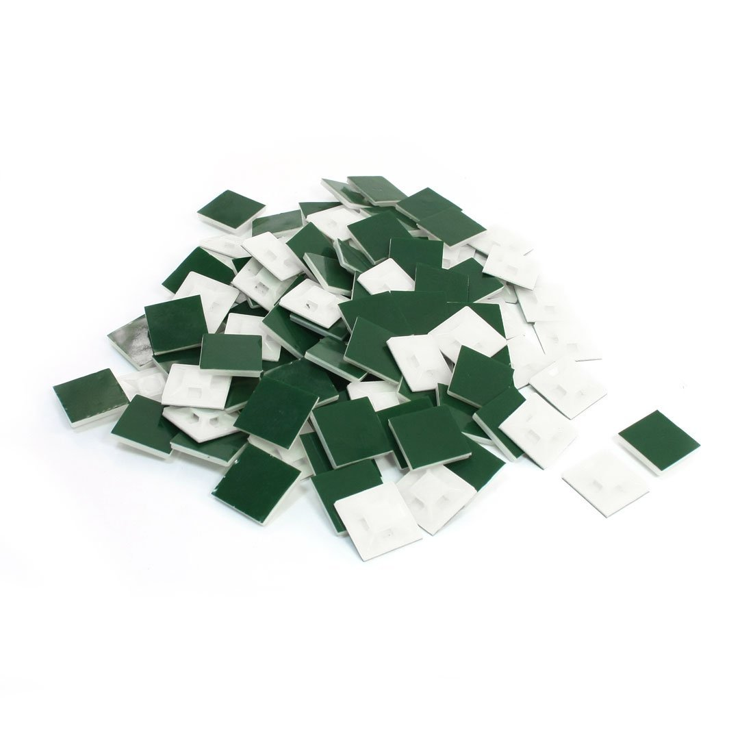 // Uxcell a13123100ux0056 Ltd Uxcell Square Shape Self-Adhesive Cable Tie Mount Base 100pcs Dragonmarts Co 21x21mm