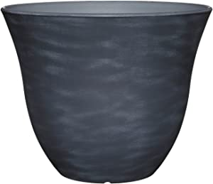 "Classic Home and Garden Honeysuckle Planter, Patio Pot, 15"" Zinc"