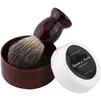 Mens Shaving Set, 3 in 1 Shaving Brush And Bowl And Soap Professional Men Wet Shaving Tool Set Faux Badger Hair Brush & Mug Bowl & Handmade Soap