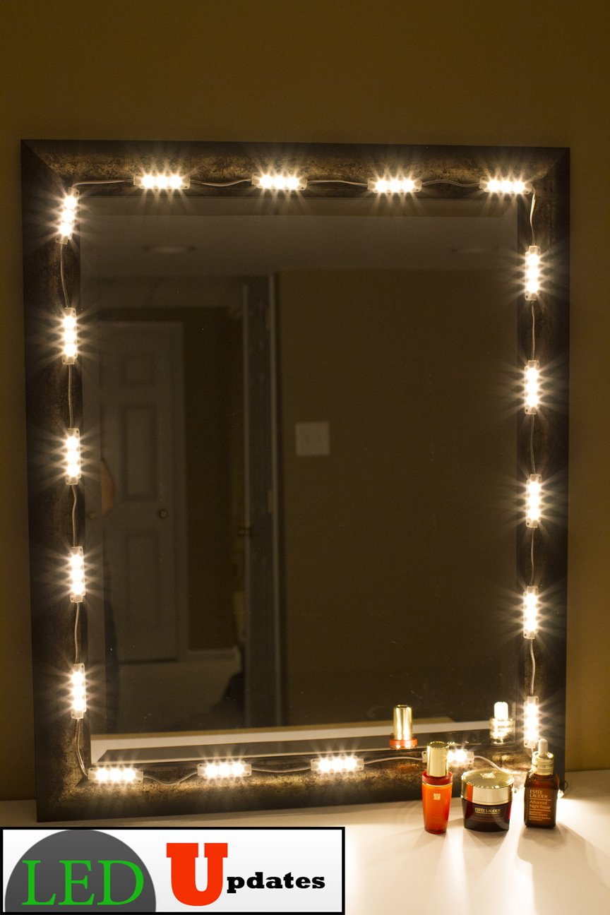 Amazon com  MAKE UP MIRROR LED LIGHT WARM WHITE COLOR WITH DIMMER   UL  POWER ADAPTER  Musical Instruments. Amazon com  MAKE UP MIRROR LED LIGHT WARM WHITE COLOR WITH DIMMER