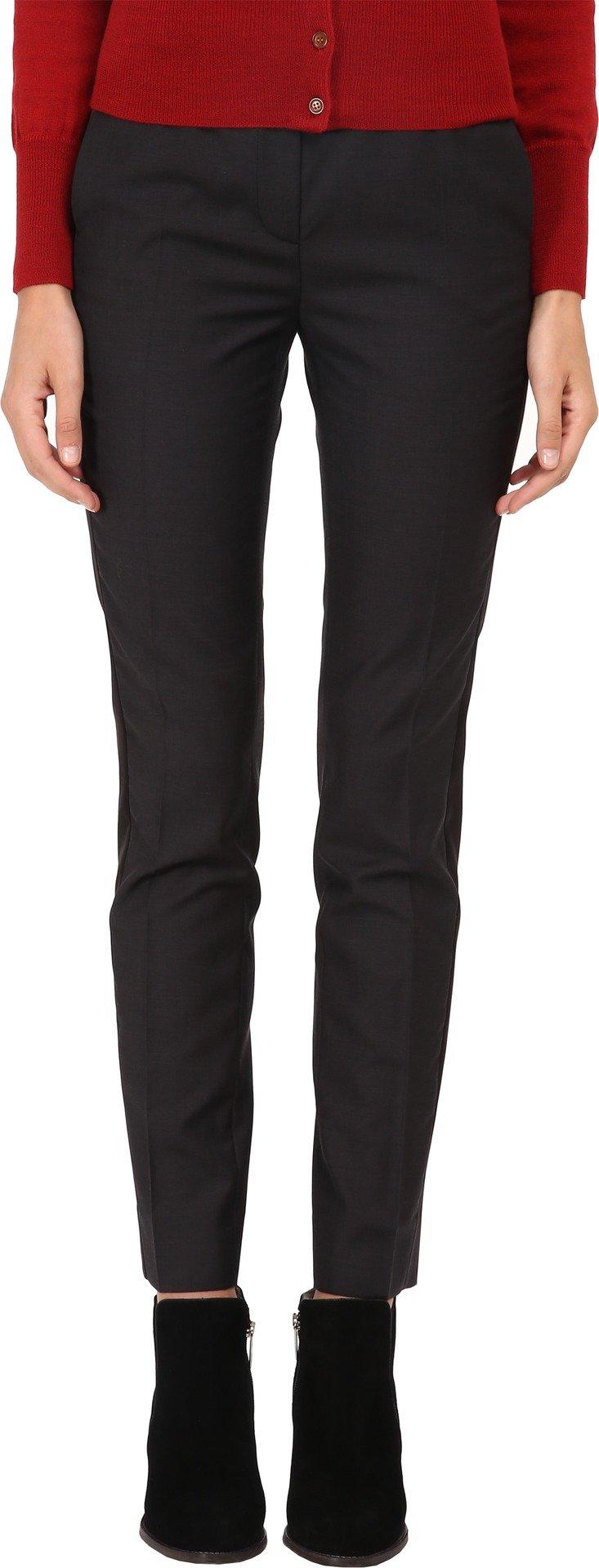 Vivienne Westwood Women's Classic Fine Wool Tuxedo Trousers Black 44 (US 8) X 28