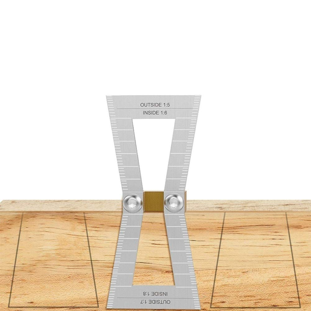 Aluminum Dovetail Marker Gauge Jig Template Wood Joint Measuring