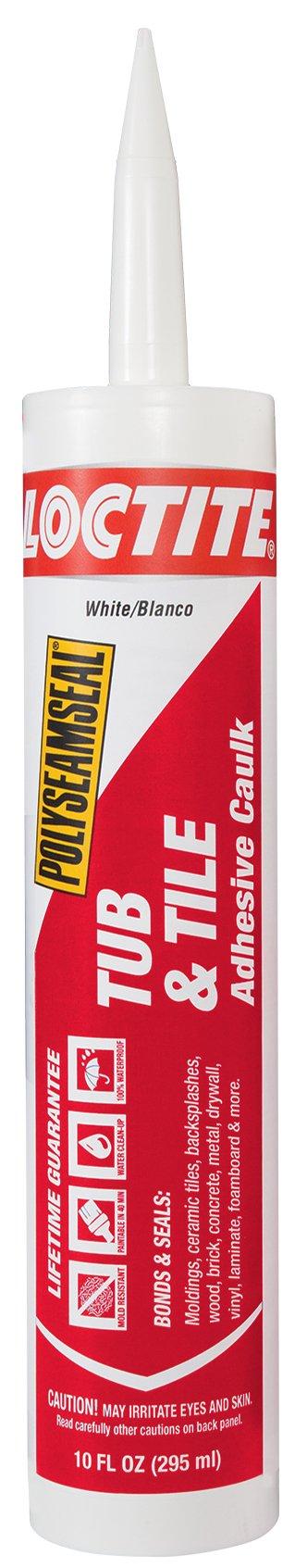 Loctite Polyseamseal White Tub and Tile Sealant, 10-Fluid Ounce Cartridge (2154739)