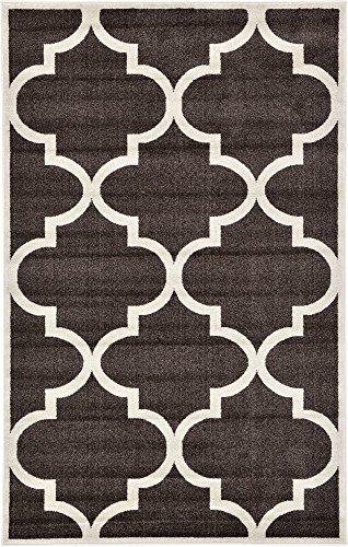Unique Loom Trellis Collection Moroccan Lattice Brown Area Rug (5' 0 x 8' - Brown Lattice