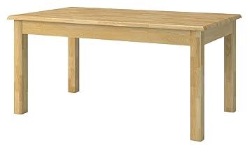Massivholz Esstisch 160x90 Cm Eiche, Ausziehbar Auf 360 Cm, Farbe: Natur