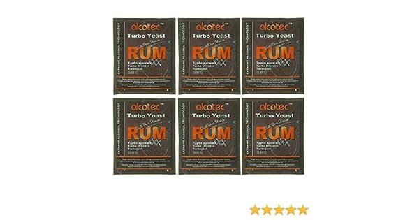 Amazon.com : Alcotec Rum Turbo Yeast (Pack of 6) : Grocery & Gourmet Food