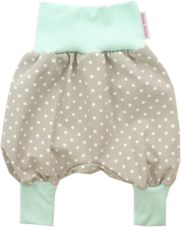 Kleine K/önige Pumphose Baby Jungen Hose /· Modell Punkte beige Mint /· /Ökotex 100 Zertifiziert /· Gr/ö/ßen 62//68