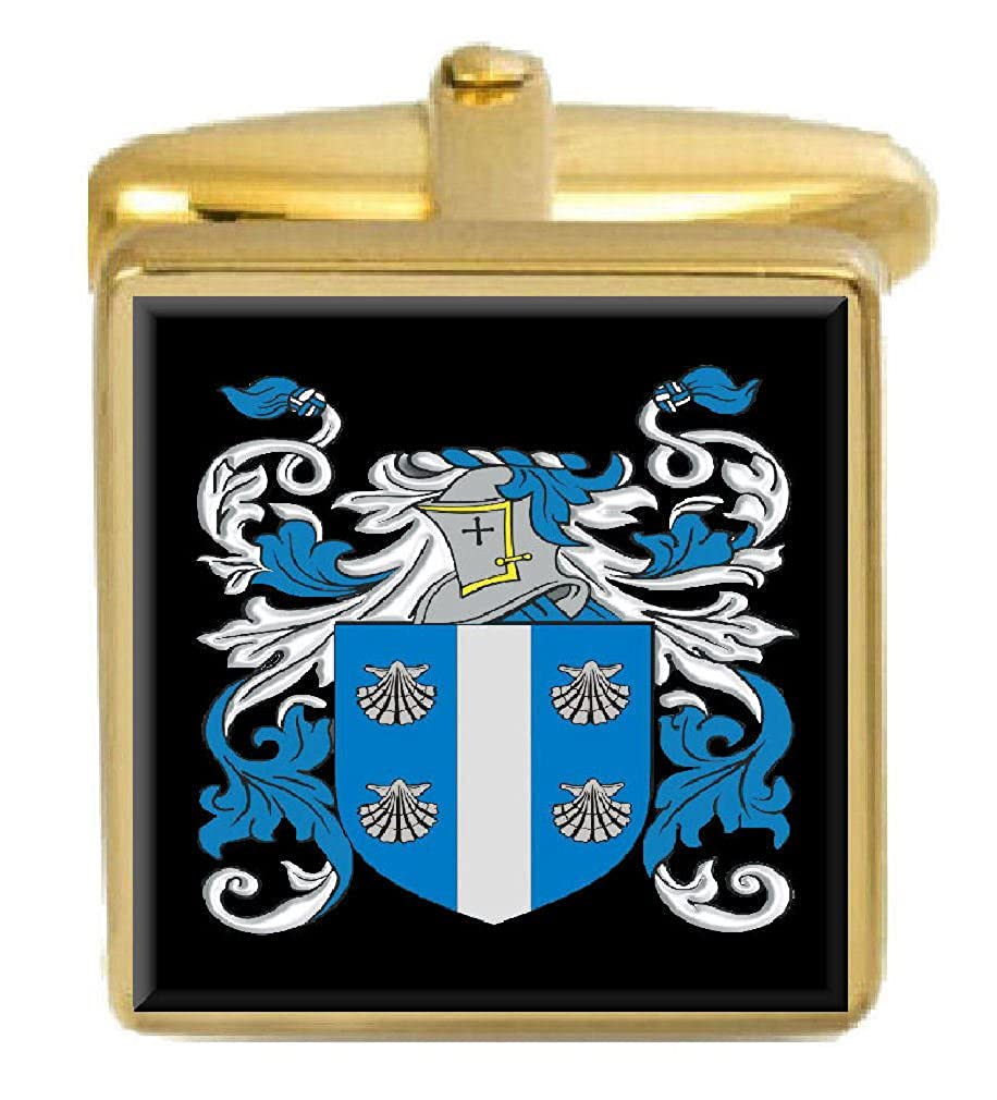 Select Gifts Callaghan Ireland Family Crest Surname Coat Of Arms Gold Cufflinks Engraved Box