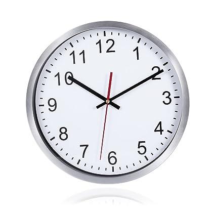 WINOMO Relojes de Pared Silencioso Grandes Originales Cocina Decorativas 12 pulgadas