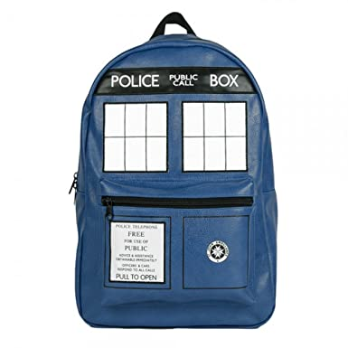 Doctor Who Tardis Faux Leather Backpack
