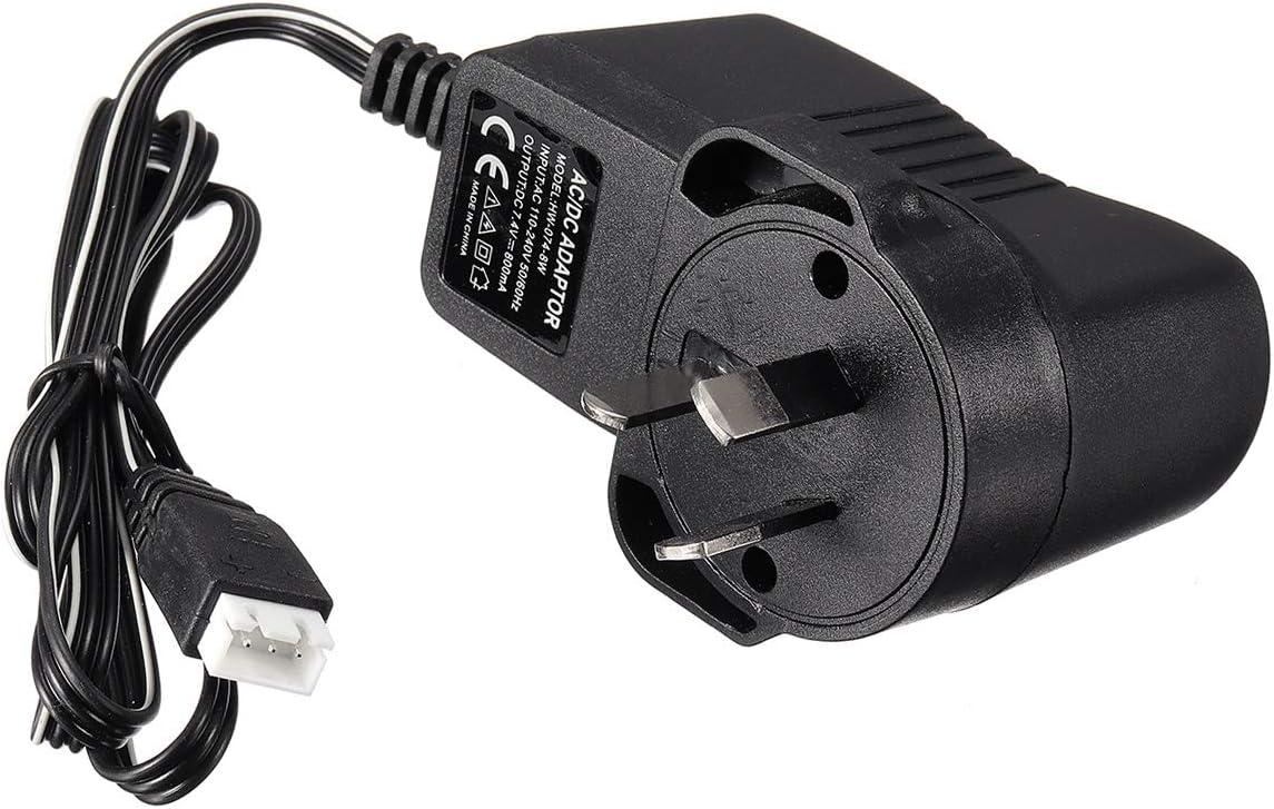 Color : Adaptor EU Plug MXBIN 7.2V cargador de bater/ía for los tanques de Heng Long RC Radio Control de Coches AU de los EEUU enchufe de la UE Accesorios para herramientas