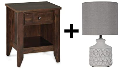 Amazon Com Better Homes Gardens Leighton Night Stand Rustic
