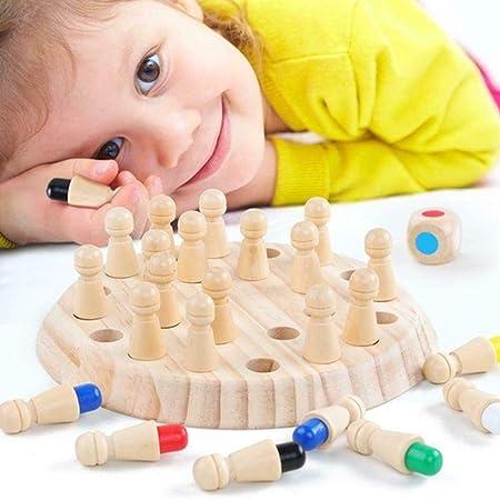 Adya Juego de Fiesta para niños Wooden Memory Match Stick Juego de ajedrez Diversión Bloque Juego de Mesa Juguete: Amazon.es: Hogar
