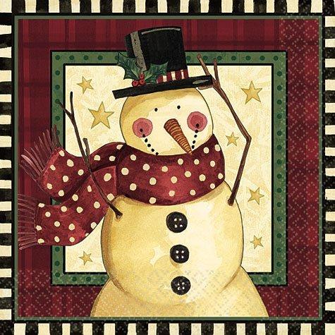 Cozy Snowman Lunch Napkins 16ct ()