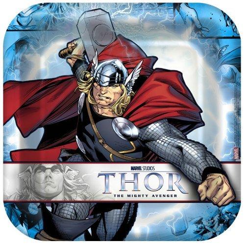 Hallmark Thor: The Mighty Avenger Square Dinner Plates (8) by Thor The Avenger