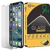 [2-Pack] Jasinber Mica de Vidrio Cristal Templado para iPhone X