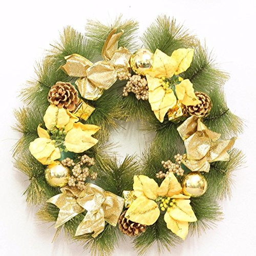 Christmas Garland for Stairs fireplaces Christmas Garland Decoration Xmas Festive Wreath Garland with 50CM Golden Christmas Wreath by Caribou Furniture And Decor