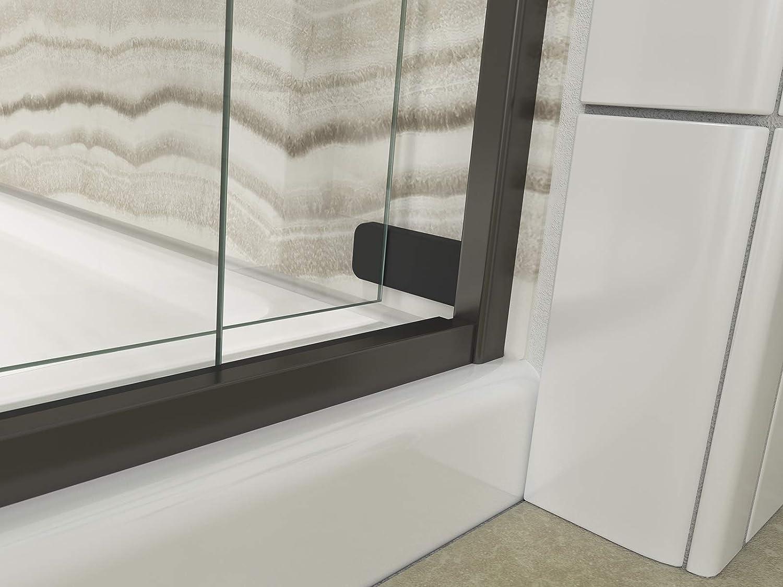 KOHLER 706000-L-ABZ Levity Bath Door Crystal Clear glass with Anodized Dark Bronze frame