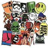 Rapidotzz 50 Pack Graffiti Stickers for Laptops Mobiles Helmets iPhone Ipads Tablets Luggage Doors Bikes Guitar Skateboard Stickers