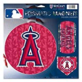 "Anaheim Angels MLB Prismatic 3 Different Die Cut Magnets On Single 11"" x 11"" Sheet Magnet"