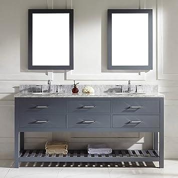 Virtu Usa Md 2272 Wmro Gr 001 Caroline Estate 72 Double Bathroom