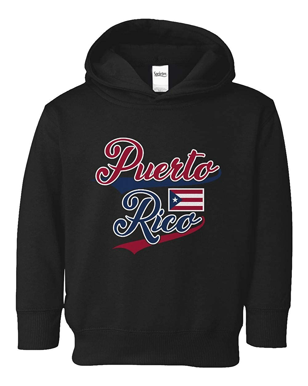 Societee Team Puerto Rico Girls Boys Toddler Hooded Sweatshirt