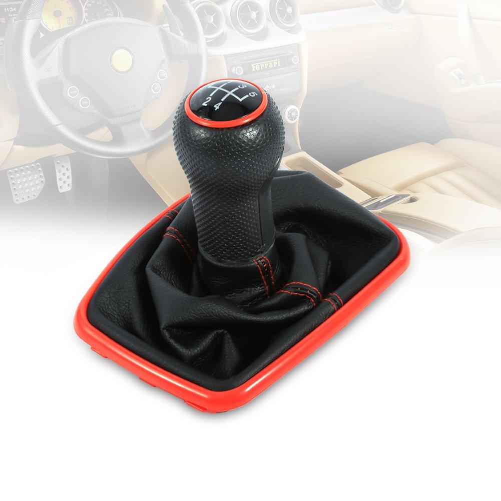 Accesorio de palanca de cambios Pomo palanca de cambio de 5 velocidades con funda