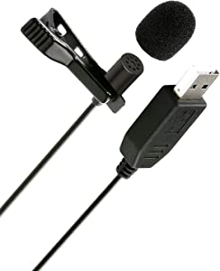 Movo M1 USB Lavalier Lapel Clip-on Omnidirectional Microphone for Laptop, PC and Mac, Perfect Podcasting, Gaming, Streaming and Desktop Mic (20-Foot Cord)