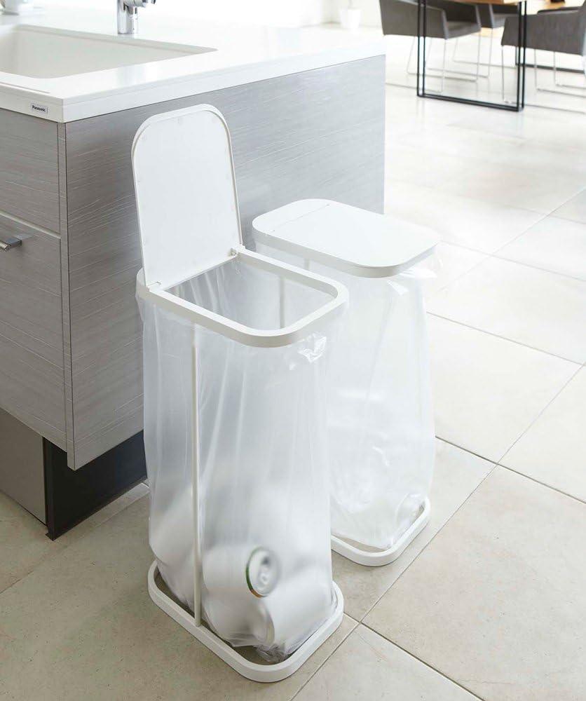 山崎実業 ゴミ箱 分別ゴミ袋ホルダー ゴミ袋とりだしやすい ルーチェ ホワイト 7552