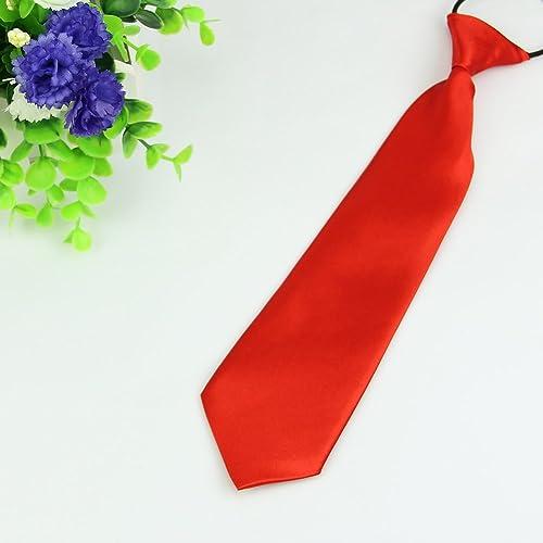 Celebration Prom parties Weddings Child Kids School Boys Tie Soft Polyester For Formal Wear Elastic Boys Neck Tie