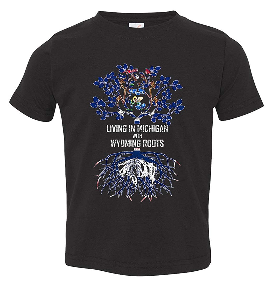 Tenacitee Babys Living in Michigan Wyoming Roots Shirt