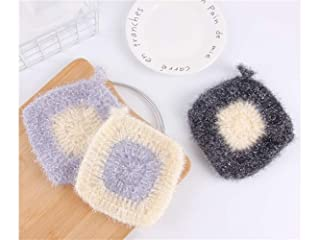 Soft 2Pcs Multifunction Polyester Magic Cleaning Cloths Dish Cloth for Kitchen and Home (Random Color) Yanies (Color : Yellow)