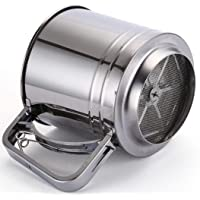 Flour Sifter Stainless Steel Large Sifter for Baking and Powdered Sugar Sifter Flour Sieve 4 Cup